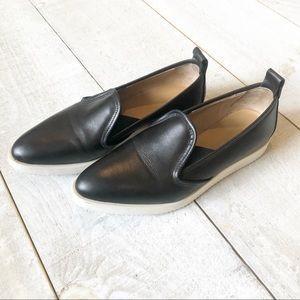 EVERLANE Leather Street Shoe   7 black white